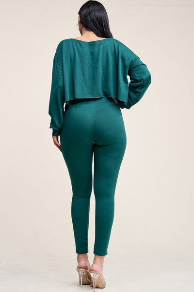 Emerald Green two piece pants set