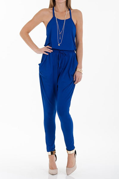 Royal Blue Jumpsuit