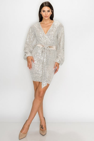 Camila Gold Wrap Dress