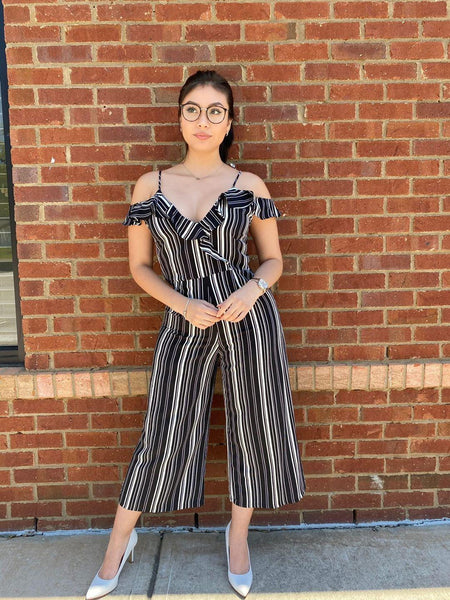 Zari Striped Jumpsuit