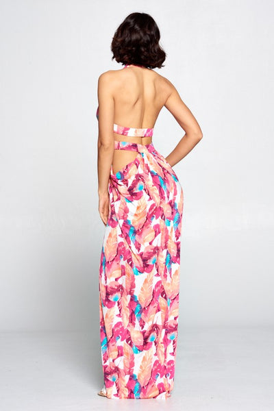Juliana Tropical Maxi Dress