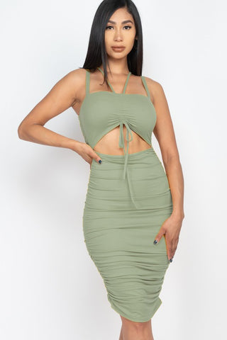 Green Haze  Midi Dress