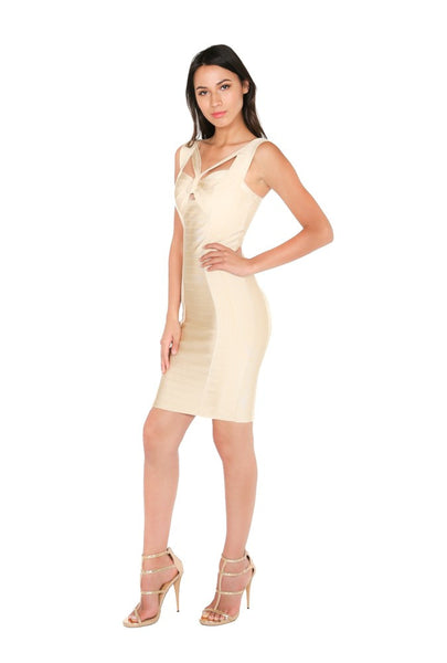 Gold Bandage Dress