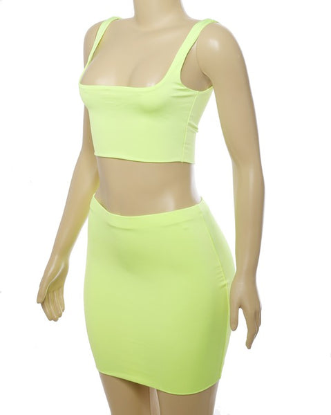 Kylie Neon Crop Top