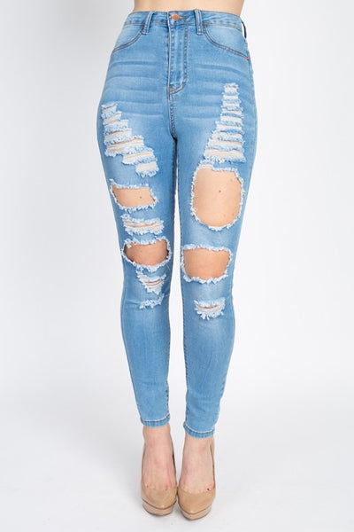 Ava Light Distressed Jeans
