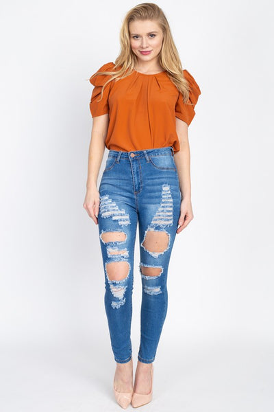 Ava Medium Distressed Jeans
