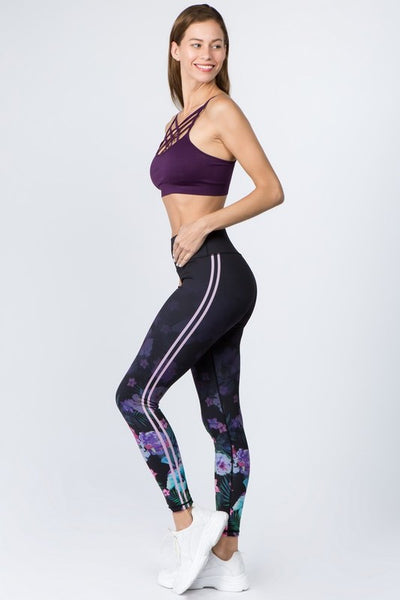 Side Stripe Active High Rise Leggings