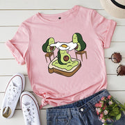 Women's loose spoof avocado cartoon T-Shirt