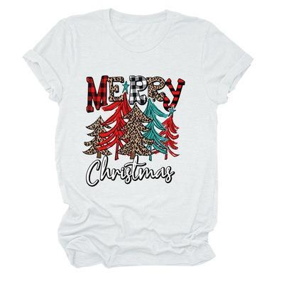 Merry Christmas Letter Print T-Shirt