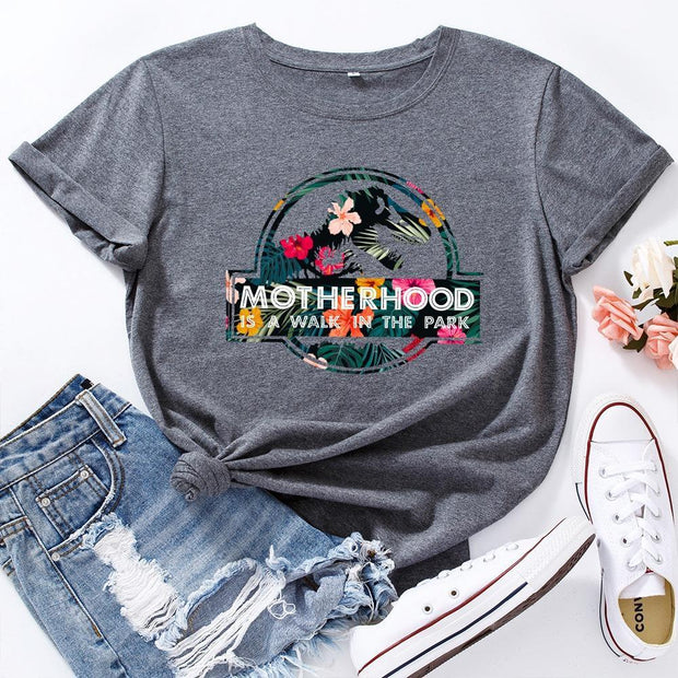 MOTHERHOOD Letter Print T-Shirt