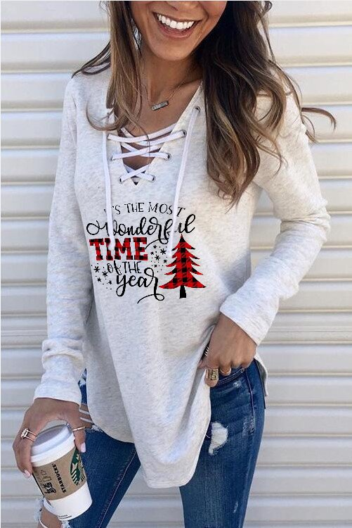 Women's It's The Wonderful Time Of The Year Printed Sweatshirt