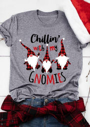 Christmas Chillin' With My Gnomies Plaid T-Shirt