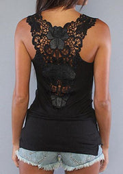 Black Rose Lace Top