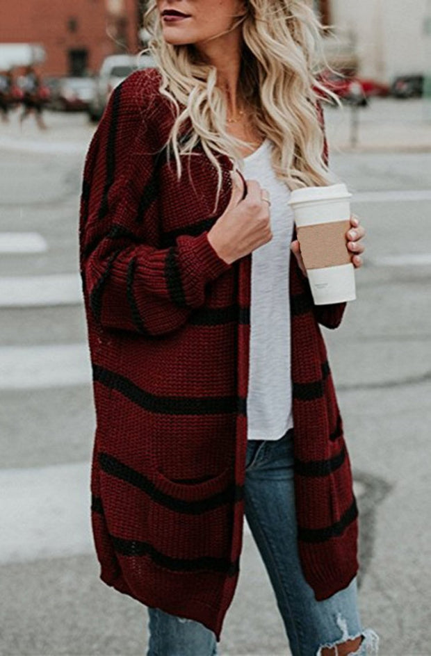 Open Front Cardigan Long Sleeve Loose Knit Lightweight Sweaters