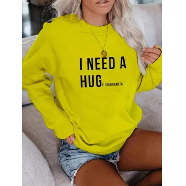 Casual Letter Print Sweatshirt