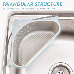 Triangular Sink Drain Shelf Home Storage & Organization esfranki.co Gray