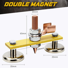 Load image into Gallery viewer, Magnetic Welding Ground Clamp Workshop Jasmine Plus Double Magnet