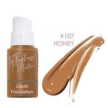 Load image into Gallery viewer, Perfect Matte Liquid Foundation Beauty Clevativity #107 Honey
