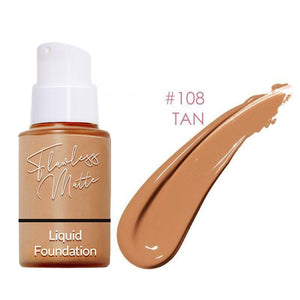Perfect Matte Liquid Foundation Beauty Clevativity #108 Tan