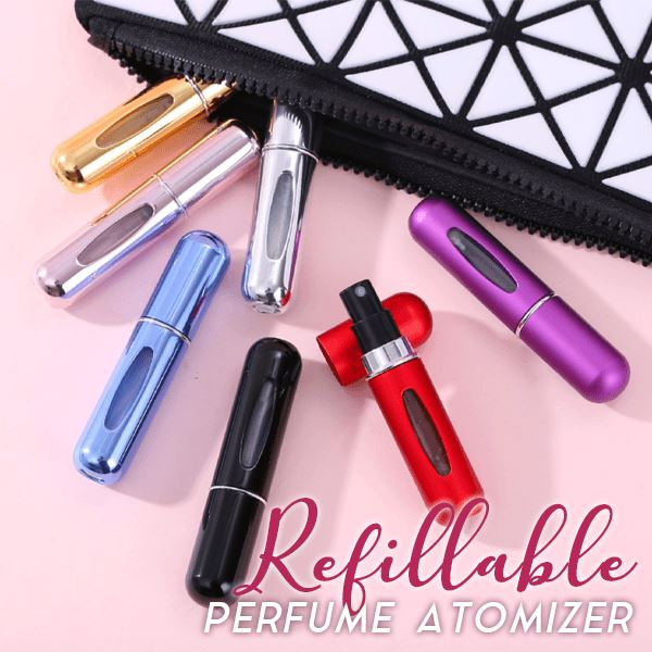 Refillable Perfume Atomizer Beauty Clevativity black