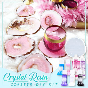 Crystal Resin Coaster DIY Kit Crafts & DIY esfrankius Coaster Mold
