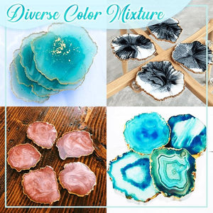 Crystal Resin Coaster DIY Kit Crafts & DIY esfrankius