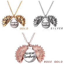 Load image into Gallery viewer, Sunflower Switched Necklace Beauty esfranki.co ROSE GOLD
