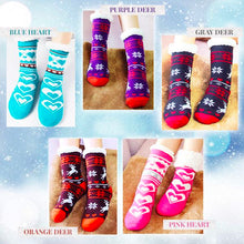 Load image into Gallery viewer, Ultra-Warm Fleece Indoor Socks Beauty mikgoodies Blue Heart