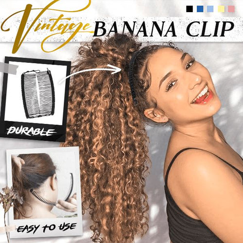 Vintage Banana Hair Clip Beauty US Wishingoal Black