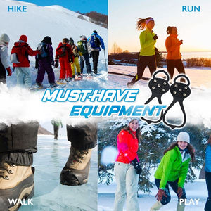 Anti Slip Ice Traction Cleats Outdoor glassywhite