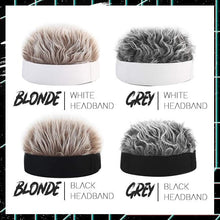 Load image into Gallery viewer, Men's Fashion - Spiked Hair Wig Headband Beauty mikgoodies Grey Hair/White Headband