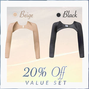 Ultimate Arm Shapers With Posture Corrector Beauty mikgoodies 20% off Value Set: BLACK + BEIGE M