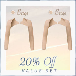 Ultimate Arm Shapers With Posture Corrector Beauty mikgoodies 20% off Value Set: BEIGE + BEIGE M
