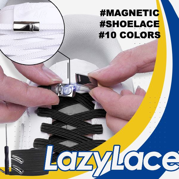 LazyLace Magnetic Shoelace Genius Solutions mikgoodies GOLD BLACK