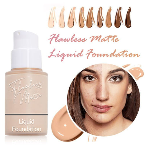 Flawless Matte Liquid Foundation Beauty Clevativity #101 Porcelain