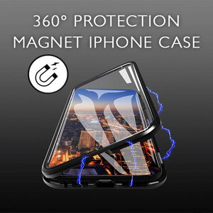 360° Protection Magnet iphone Case Electronic VanillaSnowball Black For iPhone 7