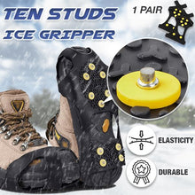 Load image into Gallery viewer, 10 Studs Ice Gripper Spike Anti-Skid (1 Pair) Outdoor esfranki.co S