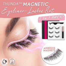 Load image into Gallery viewer, THUNDA Magnetic Eyeliner-Lashes Set Beauty & Personal Care MintyParadise 01 Cat Eye