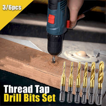 Load image into Gallery viewer, Thread Tap Drill Bits Set (3/6pcs) Workshop esfrankius Small Set (M3+M4+M5)