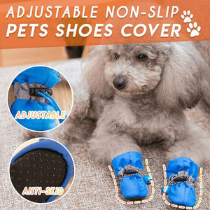 Adjustable Non-Slip Pets Shoes Cover (4 PCS) Pets & Toys esfranki.co Blue Size 1