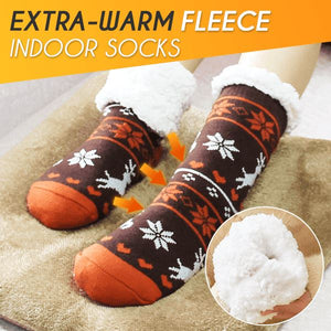 Extra-warm Fleece Indoor Socks Home esfranki.co Orange