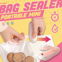 Load image into Gallery viewer, Portable Mini Plastic Bag Sealer Kitchen Clevativity PINK