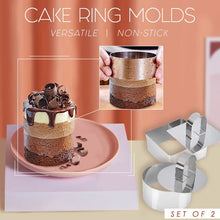 Load image into Gallery viewer, Versatile Mousse Cake Ring Molds Set Kitchen mikgoodies SET A