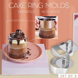 Versatile Mousse Cake Ring Molds Set Kitchen mikgoodies SET A