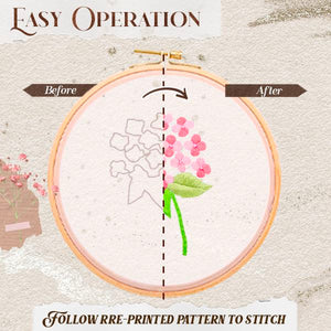 DIY Transparent Floral Embroidery Kit Crafts & DIY mikgoodies