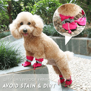 Adjustable Non-Slip Pets Shoes Cover (4 PCS) Pets & Toys esfranki.co