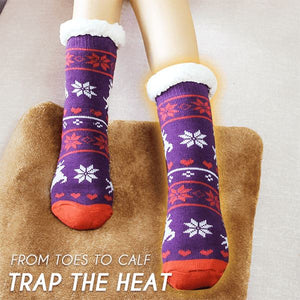 Extra-warm Fleece Indoor Socks Home esfranki.co Purple