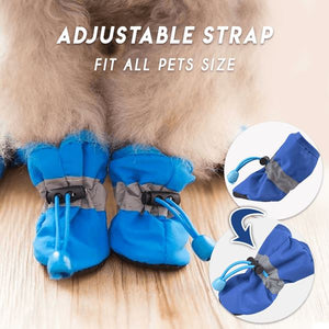 Adjustable Non-Slip Pets Shoes Cover (4 PCS) Pets & Toys esfranki.co Blue Size 2