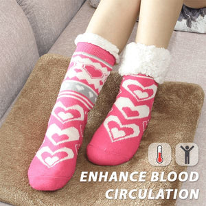 Extra-warm Fleece Indoor Socks Home esfranki.co Pink