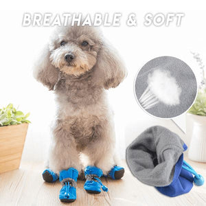 Adjustable Non-Slip Pets Shoes Cover (4 PCS) Pets & Toys esfranki.co Blue Size 3